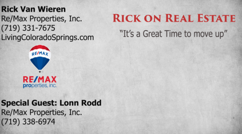 Rick on Real Estate time to move up