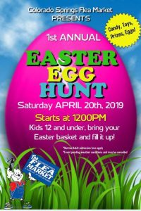 Colorado Springs Flea Market egg hunt