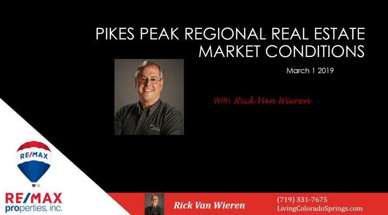Rick Van Wieren presents Colorado Springs Real Estate Statistics